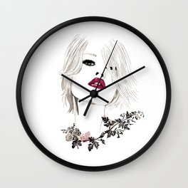 Pouty Wall Clock