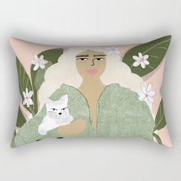 Cat Mom Rectangular Pillow