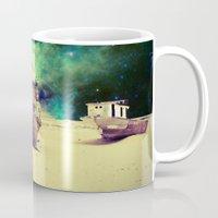 ship Mugs featuring Ship by Cs025