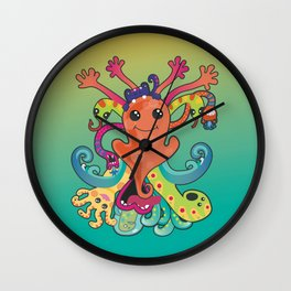 Monsters Revisited Wall Clock