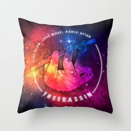 Treebassin – Sloth Throw Pillow