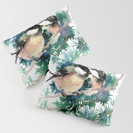 Chickadees in the Woods Pillow Sham