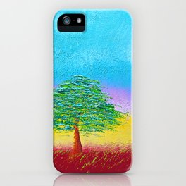 """Orchard Tree #2"" with Poem iPhone Case"