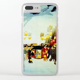 Japanese Covered Litter and Lanterns Clear iPhone Case