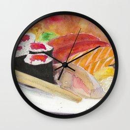 Sushi And Sashimi Dinner Platter Wall Clock