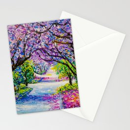 Path Of Jacaranda Trees Stationery Cards