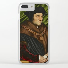 Sir Thomas More Painting Clear iPhone Case