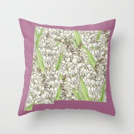 New Mexico in Flowers Throw Pillow