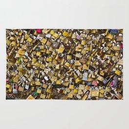 Love Locks in Paris Rug