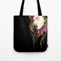 artrave Tote Bags featuring ARTRAVE LG by Mario Klein