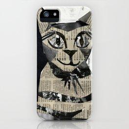 Newspaper Cat iPhone Case