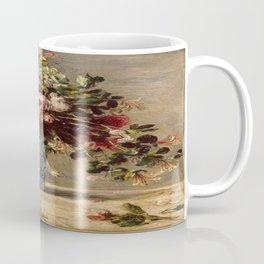 Pierre-Auguste Renoir's Roses and Jasmine in a Delft Vase Coffee Mug