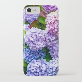 Purple Hydrangeas iPhone Case