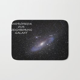 Galaxy Andromeda Bath Mat