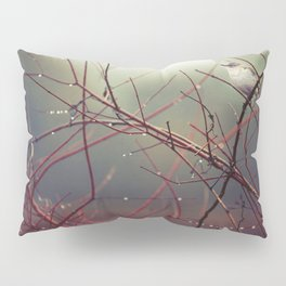 Bird and Red Branches Pillow Sham