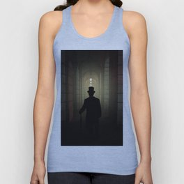 Evening walk in the old town Unisex Tank Top