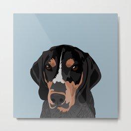 Doc Bluetick Coonhound Metal Print