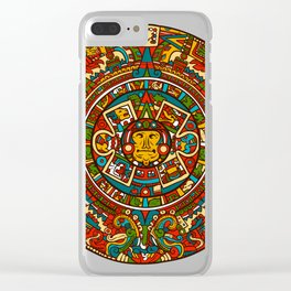 Aztec Mythology Calendar Clear iPhone Case
