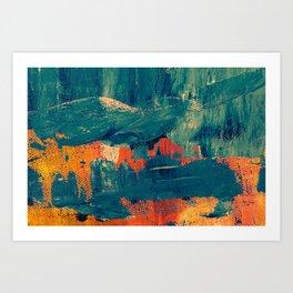 Water color splash Art Print