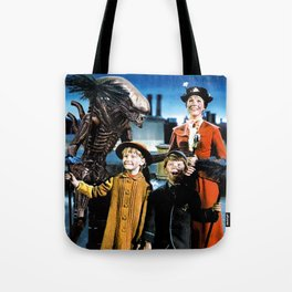 Alien in Mary Poppins Tote Bag