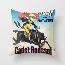 Hippodrome Paris Throw Pillow