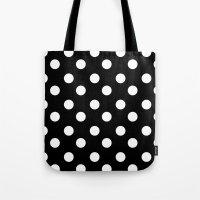 polka Tote Bags featuring • • • polka by MONMONDERNDELLA