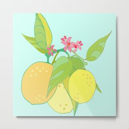 Lemon Twist Metal Print
