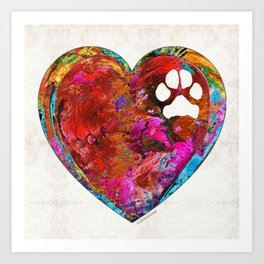 Dog Art - Puppy Love 2 - Sharon Cummings Art Print