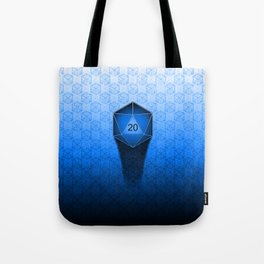 D20 All I Do Is Crit!  Blue Ombre Tote Bag