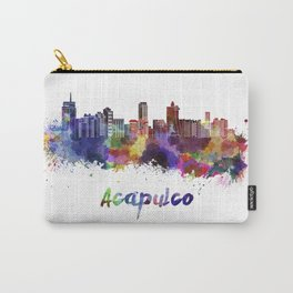 Acapulco skyline in watercolor Carry-All Pouch