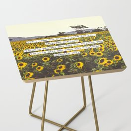 Jeremiah Sunflowers Side Table