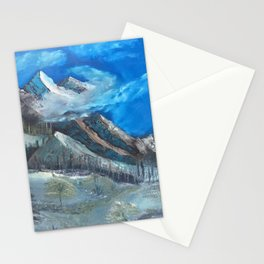 Cloudy Mountaintop Stationery Cards