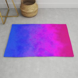 Gradient blue pink cloudy background Rug