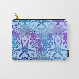 Mermaids and Seahorses (Blue and pink wash) Carry-All Pouch