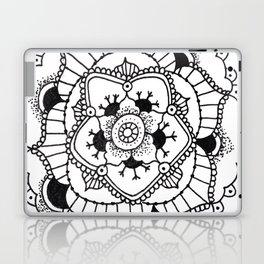 Black and White Manadala Pt 3 Laptop & iPad Skin