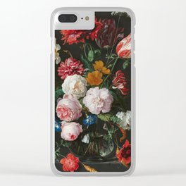 Still Life with Flowers by Jan Davidsz. de Heem Clear iPhone Case
