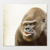 gorilla Canvas Prints featuring Gorilla by Asya Solo