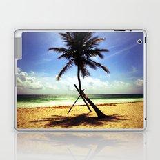 Palm on the beach. Laptop & iPad Skin