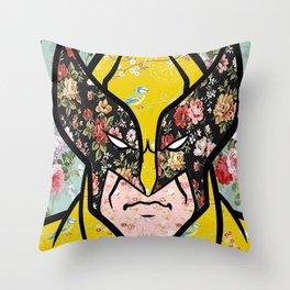 Floral (Wolverine)James Logan Howlett Throw Pillow