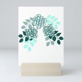 Mint Sampler Stripes Mini Art Print