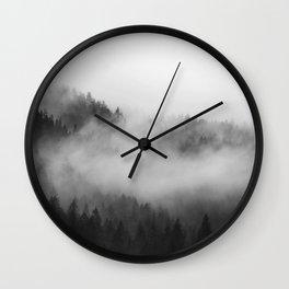 Foggy Forest Wall Clock