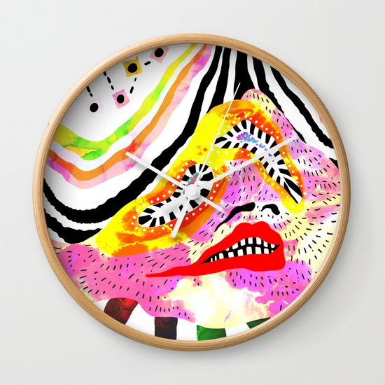 """Melophobia"" by Steven Fiche Wall Clock"