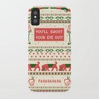 sweater iPhone & iPod Cases featuring A Christmas Sweater by Sarajea