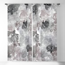 Abstract floral background 74 Blackout Curtain