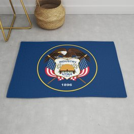 Utah State Flag - Authentic Version Rug