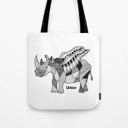Illustrated Rhino – Union – Black Tote Bag