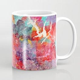 Durham map North Carolina painting 2 Coffee Mug