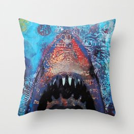 Great Whitey Throw Pillow
