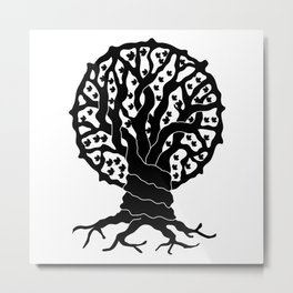 tree with circular branches Metal Print
