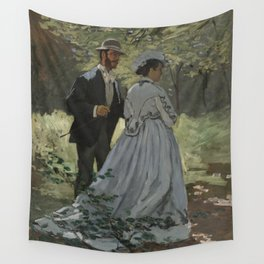 Claude Monet Bazille and Camille (Study for Déjeuner sur l'Herbe) 1865 Painting Wall Tapestry